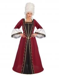 Punainen barokkilainen mekko naiselle