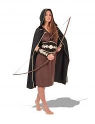 Keskiaikaisen metsästäjän naamiaisasu naiselle