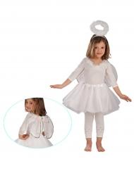 Pienen enkelin valkoinen ja hopeanvärinen setti tytölle