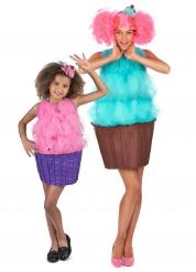 Cupecake-naamiaisasut äidille ja tyttärelle