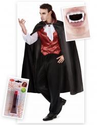 Täydellinen vampyyrisetti aikuisille Halloween