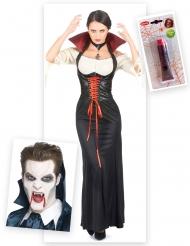 Aikuisten Halloween-vampyyrisetti