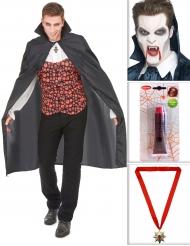 Vampyyrin Halloween setti - Vampyyriasu aikuisille