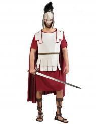 Roomalaisen gladiaattorin punavalkoinen naamiaisasu miehelle