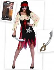 Zombiemerirosvo - Halloweenasu aikuisille