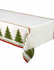 Muovinen joulukuusi-pöytäliina 137 x 213 cm