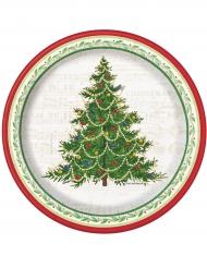 Joulukuusi- pienet pahvilautaset 18 cm
