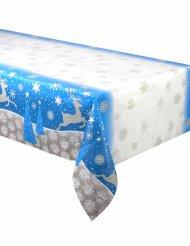 Lumihiutaleet ja jouluporot-muovinen pöytäliina 137x213 cm