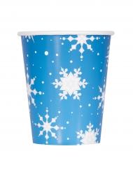 Pahviset lumihiutalemukit 270 ml 8 kpl