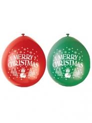 Lateksiset Merry Christmas- ilmapallot 23 cm 10 kpl