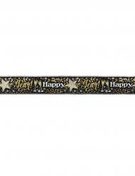Alumiininen Happy New Year-banneri 3,65 m