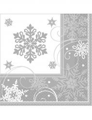 Lumihiutale-servetit 25 x 25 cm 16 kpl