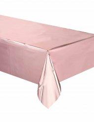 Ruusukultainen muovinen pöytäliina  137x274 cm