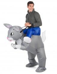 Jäniksen selässä Carry Me -naamiaispuku aikuisille