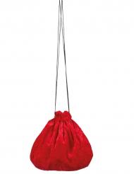 Punainen veluurilaukku 27 cm