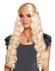 Blondi peruukki kiharoilla