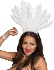 Valkoinen brasilialainen päähine naiselle