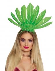 Brasilialainen vihreä päähine naiselle