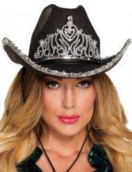 Prinsessan musta cowboyhattu naiselle