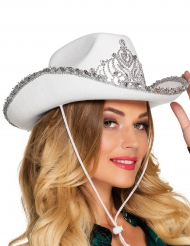 Valkoinen cowboy-hattu naiselle