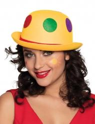 Keltainen hattu värikkäillä pilkuilla aikuiselle