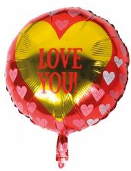 Love You-alumiinipallo 45 cm