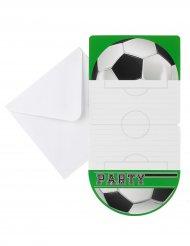 Jalkapallo-kutsukortit 10 x 20 cm