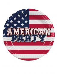 American party-pahvilautaset 25 cm 6 kpl
