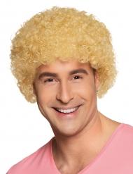 Blondi kiharapää - Vaalea peruukki aikuisille