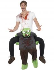 Zombin selässä- naamiaisasu miehelle halloween