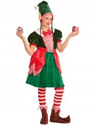 Joulupukin apulaisen naamiaisasu tytölle
