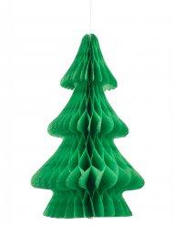 Vihreä joulukuusi- kennokoriste 24 cm