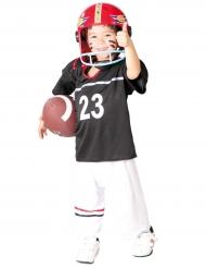 Amerikkalaisen jalkapallon pelaajan mustavalkoinen naamiaisasu lapselle