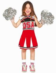 Pompom tytön USA- naamiaisasu tytölle