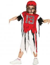 Zombi/amerikkalaisen jalkapallon pelaajan naamiaisasu pojalle
