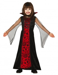Pimeyden kreivittären naamiaisasu tytölle halloween