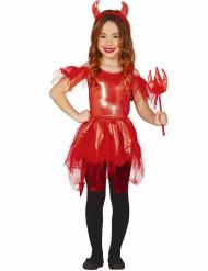Loistavan paholaisen halloween- naamiaisasu tytölle
