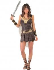 Roomalaisen sotilaan naamiaisasu naiselle