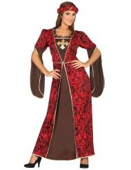 Keskiaikaisen hovinaisen naamiaisasu naiselle