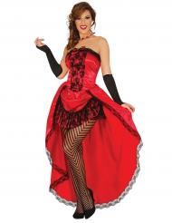 Miss Burleski-punainen naamiaisasu naiselle