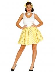 50-luvun keltainen hame ja huivi naiselle