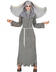 Riivatun harmaa halloween- asu naiselle