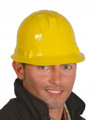 Rakennusmiehen keltainen kypärä aikuiselle