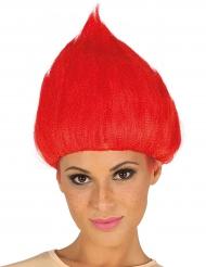 Trollipeikon peruukki -punainen