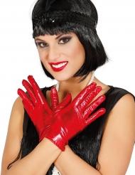 Lyhyet punaiset hanskat naiselle