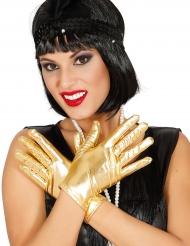 Kultaiset lyhyet hanskat naiselle