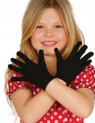 Lyhyet mustat hanskat lapselle