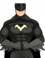 Mustat supersankarin hanskat aikuiselle