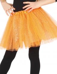 Oranssi paljettitutu tytölle