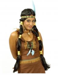 Pitkä intiaaniperuukki aikuiselle